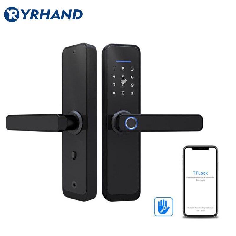 TT Lock App WiFi Smart Fingerprint Door Lock, Electronic Door Lock,Smart Bluetooth Digital APP Keypad Code Keyless Door Lock