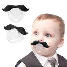 1pcs Spoof Beard Pacifier Food Grade Silicone Funny Baby Dummy Nipple Teethers Toddler Orthodontic Soothers Teat Baby Gift(China)