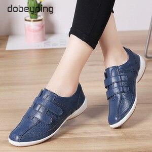 Image 3 - Sonbahar Kadın Ayakkabı Cut Out Kadın Loaferlar Hakiki Deri kadın ayakkabısı Düşük Topuklu Womenn Beyaz Flats Bayanlar Oxfords Boyutu 36  42