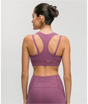 NWT desnuda.-siento tela empujar entrenamiento Gimnasio Deportivo Bras Mujer Pro chaleco-formación de tipo Fitness deportes Bras Tops