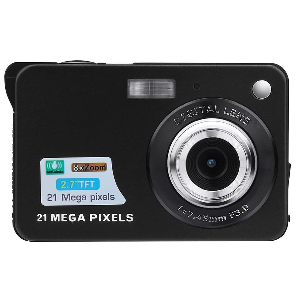 Digital Camera 2019 2.7HD Screen Digital Camera 21MP Anti-Shake Face Detection Camcorder Black white
