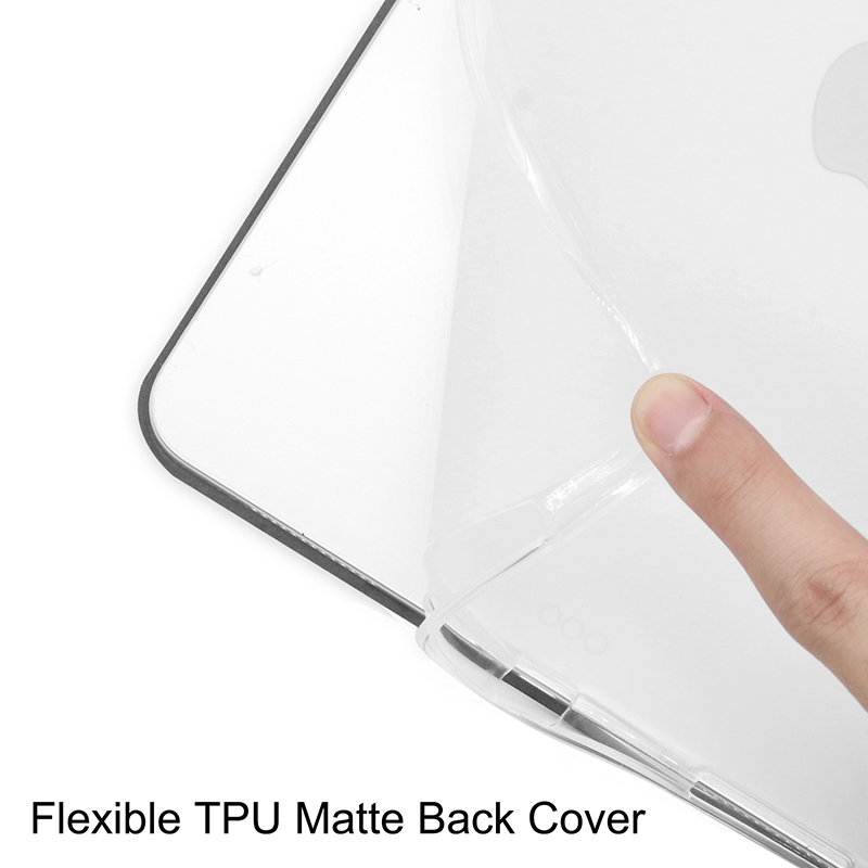 iPadpro11 Case Transparent-Cover 11inch Pen-Holder with PU A2228/A2068/A2230 Pencil-Slot for