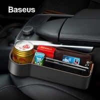 Baseus Universale Per Auto In Pelle Organizzatore Auto Sede Gap Scatola di Immagazzinaggio Per La Tasca Del Raccoglitore Dell'organizzatore Sigaretta Tasti Sostegni telefono