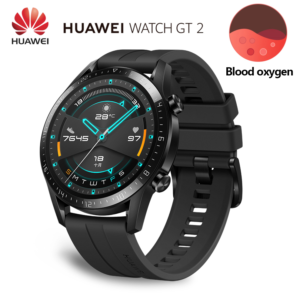 2019 Original Huawei Watch GT 2 Smartwatch Kirin A1 Bluetooth Smartwatch 5.1 Battery Life Heart Rate Sleep For Android iOS