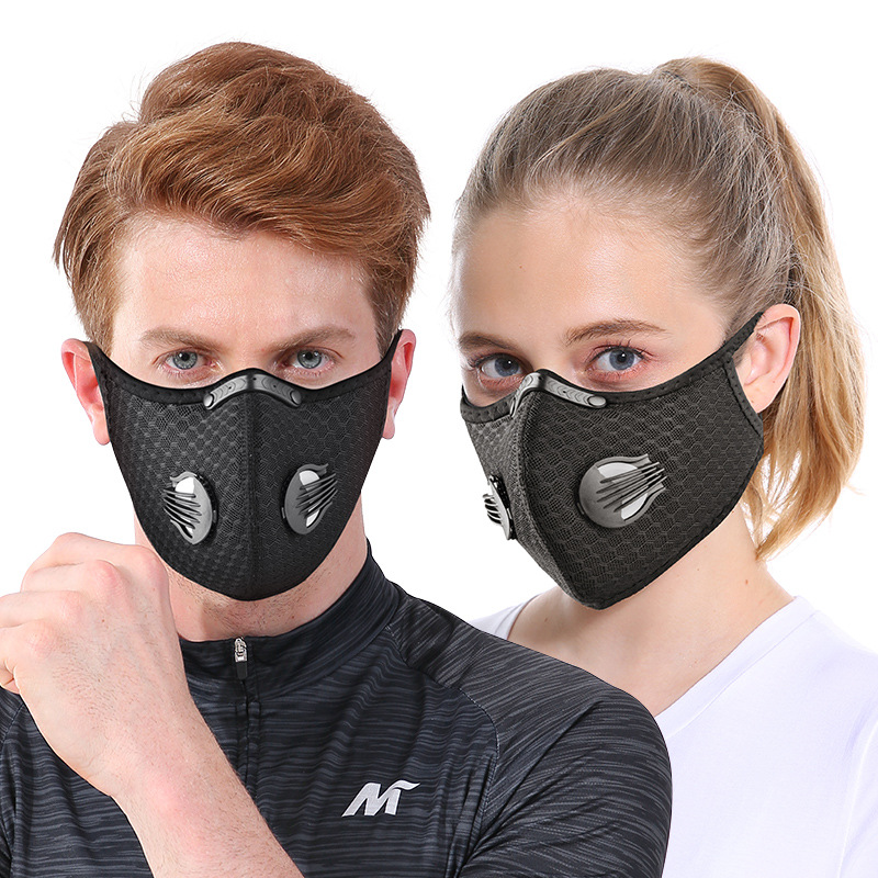 Reusable Anti Bacterial Cycling Face Masks Filter Anit fog Breathable Dustproof Bicycle Respirator Sports Protection Dust Masks|Masks| |  - title=