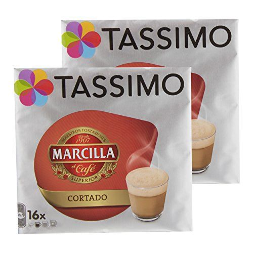 Tassimo Marcilla Cortado, Coffee, Coffee, Bohnne Coffee Café Au Lait, 32T Disc