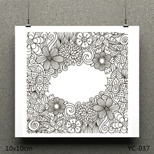 AZSG Flower greeting card Clear Stamps/seal for DIY Scrapbooking/Card Making/Photo Album Decoration Supplies warm fireplace clear stamps seal for diy scrapbooking card making photo album decoration supplies