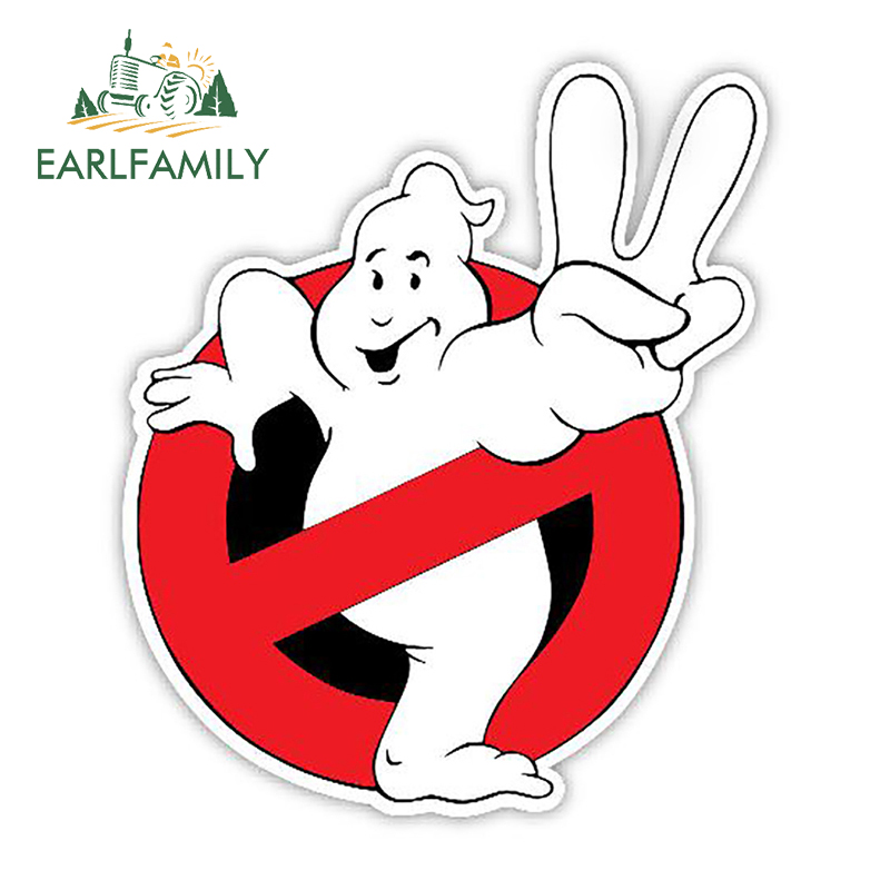 EARLFAMILY 13cm X 11.2cm Car Styling Ghostbusters Decal Funny Cartoon Sticker Waterproof Auto Motor Decor Graphics Car Stickers