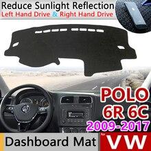 Для Volkswagen VW POLO 6R 6C 2009~ 5 MK5 Противоскользящий коврик на приборную панель солнцезащитный коврик для панели автомобильные аксессуары 2012