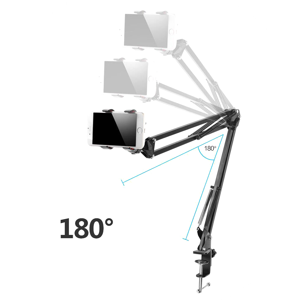 360 Degrees Rotating Tablet Phone Holder For Ipad Stand Mobile Phone Stand Tablet Bed Desktop Car Bracket Lazy Support Packed