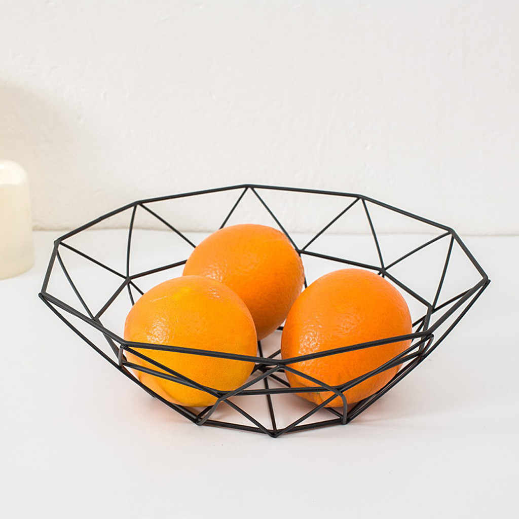 Geometryczne owoce warzywa kosz z drutu miska metalowa kuchnia przechowywanie stojak wystawowy owoce warzywa wino tace stojak wystawowy 7P