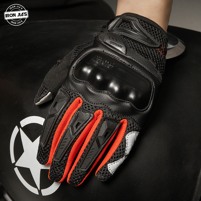 IRON JIA'S Summer Motorcycle Gloves Men Touch Screen Breathable Motobike Riding Moto Protective Gear Motorbike Motocross Gloves 4