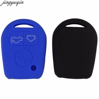 jingyuqin Silicone Key Cover Case For BMW E31 E32 E34 E36 E38 E39 E46 Z3 3 Buttons Straight Remote Car Key Wallet image