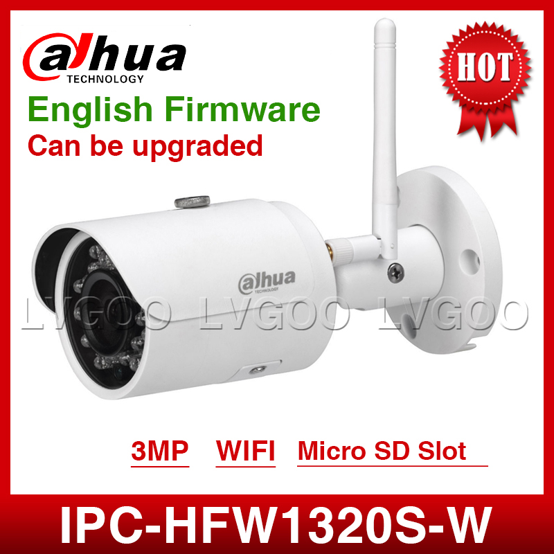 DaHua Wifi  IPC-HFW1320S-W 3MP Mini Bullet IP Camera Infrared CCTV Camera IP67 Security Camera Replace IPC-HFW1431S With Logo