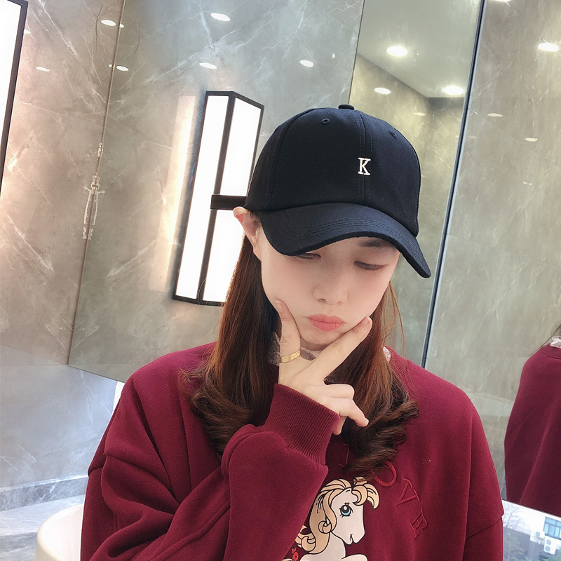 Hat Women Female Korean Wild Baseball Cap Japanese Simple Embroidered Peaked Hat Outdoor Leisure Student Sun Hat Men Snapback