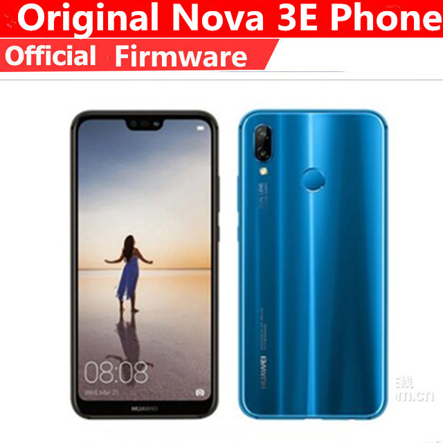 "Internationalen Rom HuaWei P20 Lite Nova 3E 4G LTE Handy Android 8,0 5.85 ""2280X1080 4GB RAM 128GB ROM Gesicht ID 24,0 MP FM"