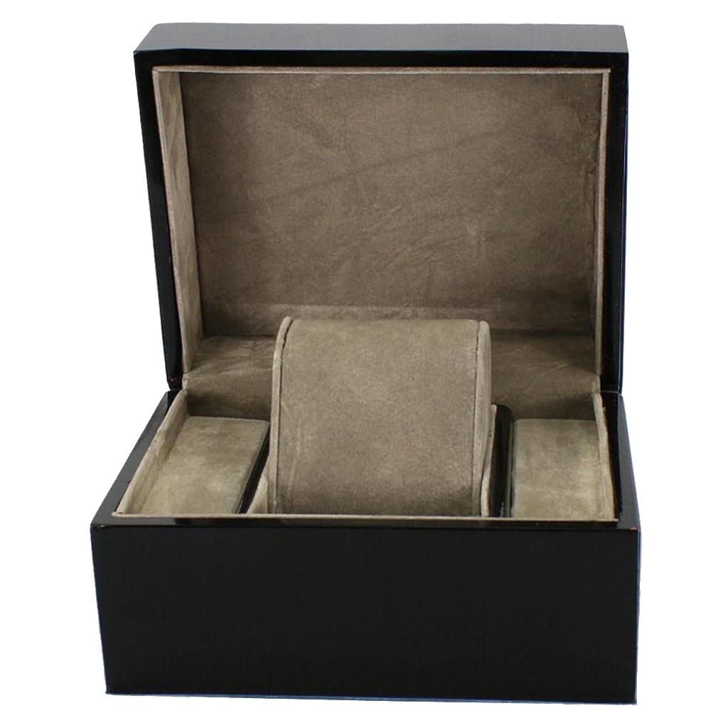 Black Watch Box Single Slot Watch Case Watch Box Organizer For Men Women Watch Winder Holder Display Jewelry Storage Organizer|Watch Boxes| |  - title=