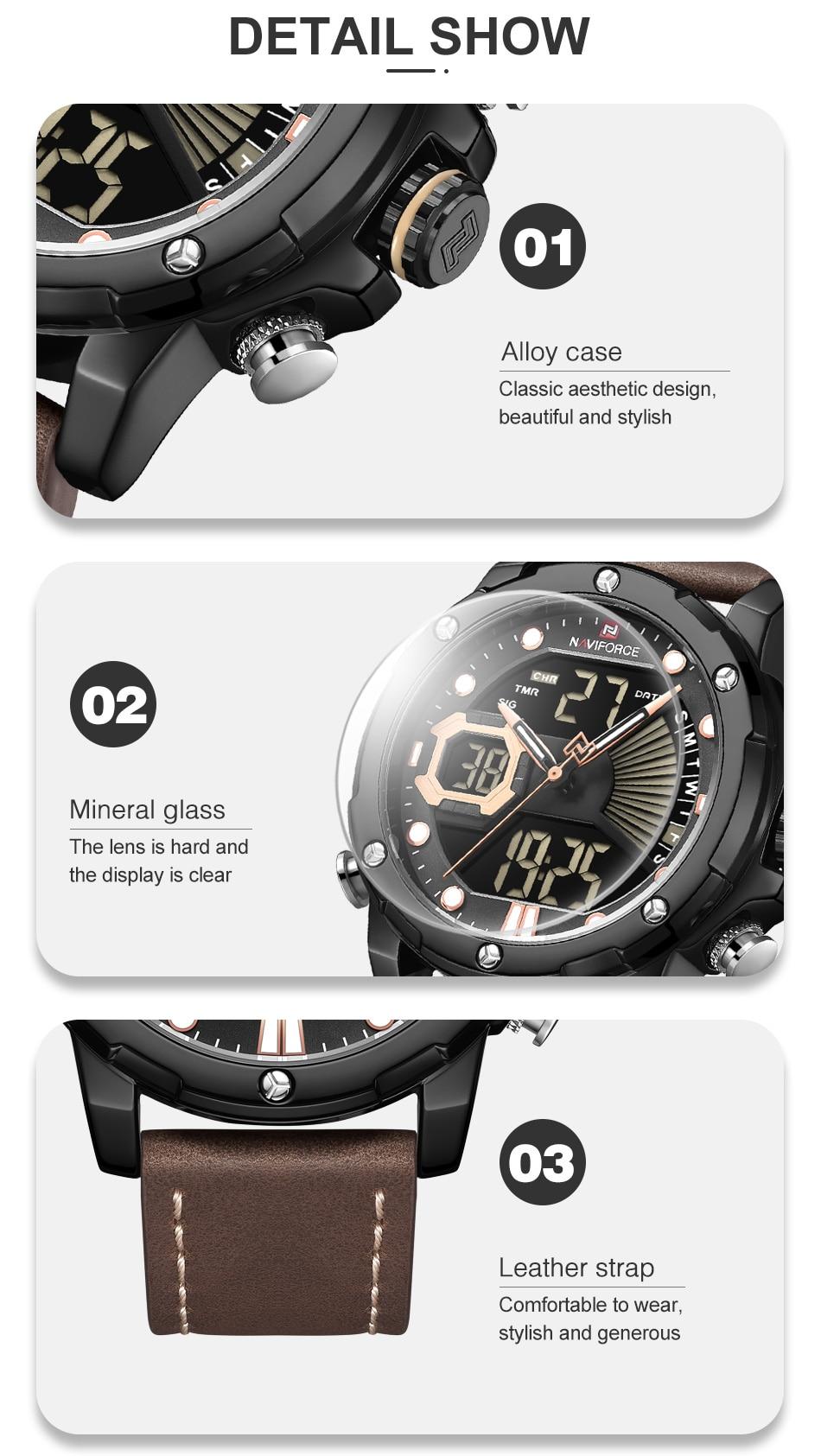 Hfc3cdb439f2a46c990495d79f530c5fdk NAVIFORCE Men Watch Top Luxury Brand Fashion Sports Wristwatch