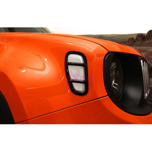 For Jeep Renegade 2016 2017 2018 Side Lamp Cover Light Trims Bumper Chrome Car Styling Accessories