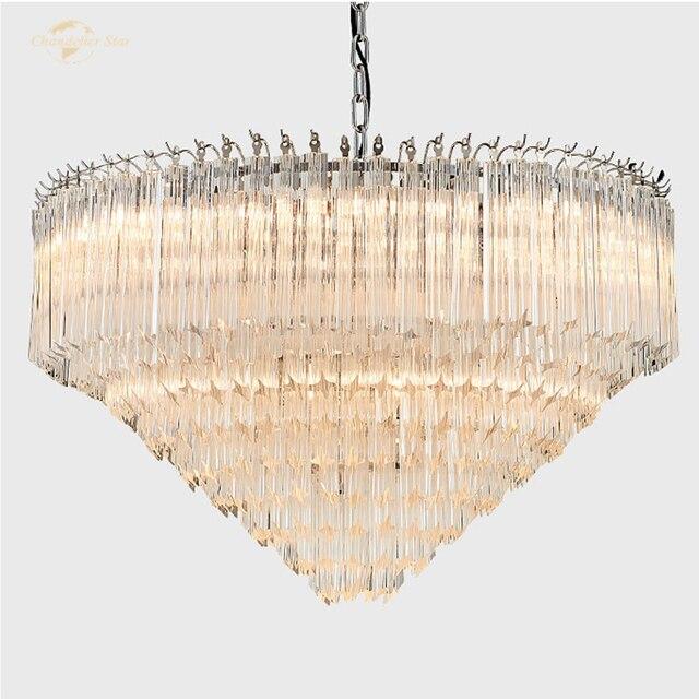 Фото арт деко скандинавское стекло светодиодный светильник для дома