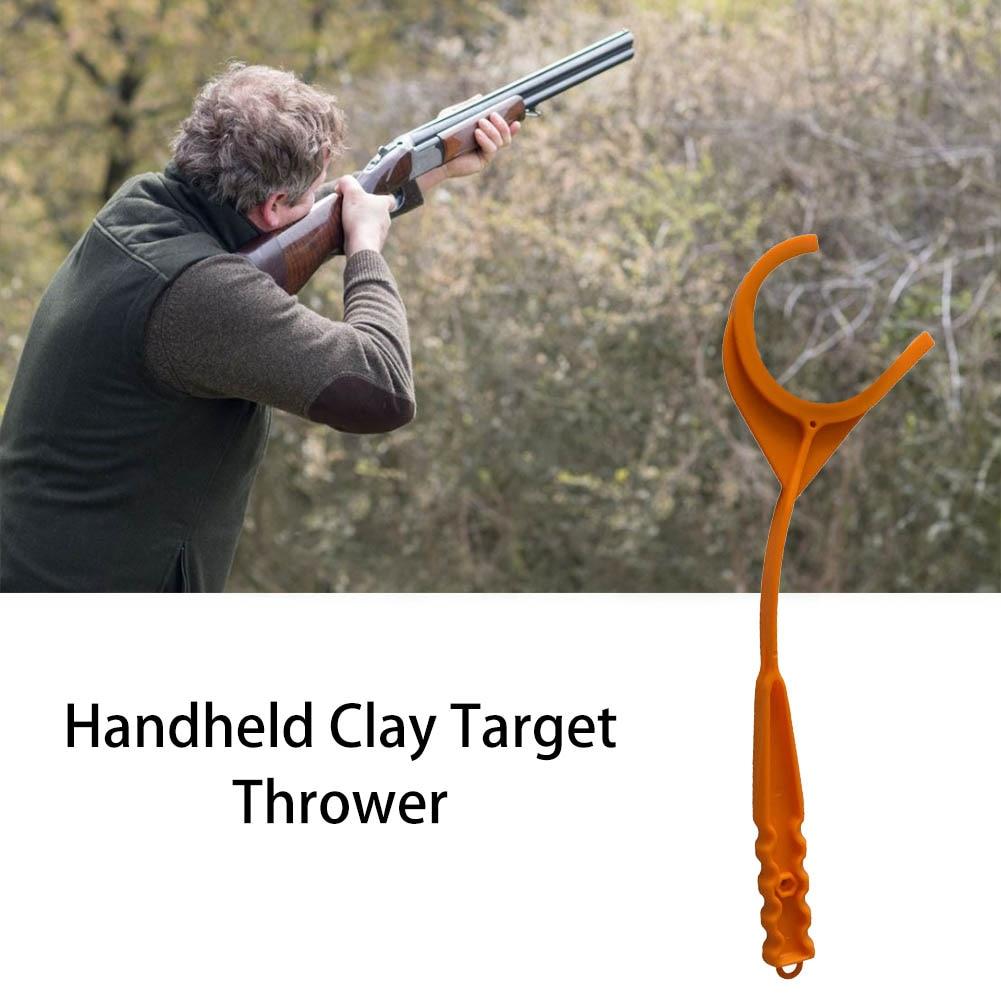 Handheld Shooting Tool Handheld Clay Target Thrower Outdoor Target Throwing Tool Clay Target