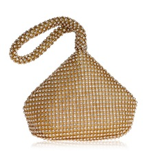 Hot Dinner Package Diamond Lady Europe and America Pair of Rhinestone Bag Tote Mini Evening Wedding Clutch Bags  Clutches Women