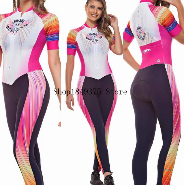 2020 pro equipe triathlon terno rosa das mulheres de manga curta calças compridas ciclismo jérsei skinsuit macacão maillot ciclismo ropa ciclismo 3