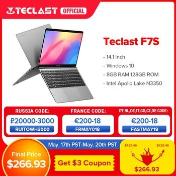 "Newest Teclast F7S Laptop 14.1"" 1920x1080 IPS Windows 10 Notebook 8GB RAM 128GB ROM Laptops Intel Apollo Lake Dual Wifi Computer 1"