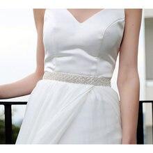 Блестящий Кристалл с лентой Свадебные аксессуары ремни (кристальная