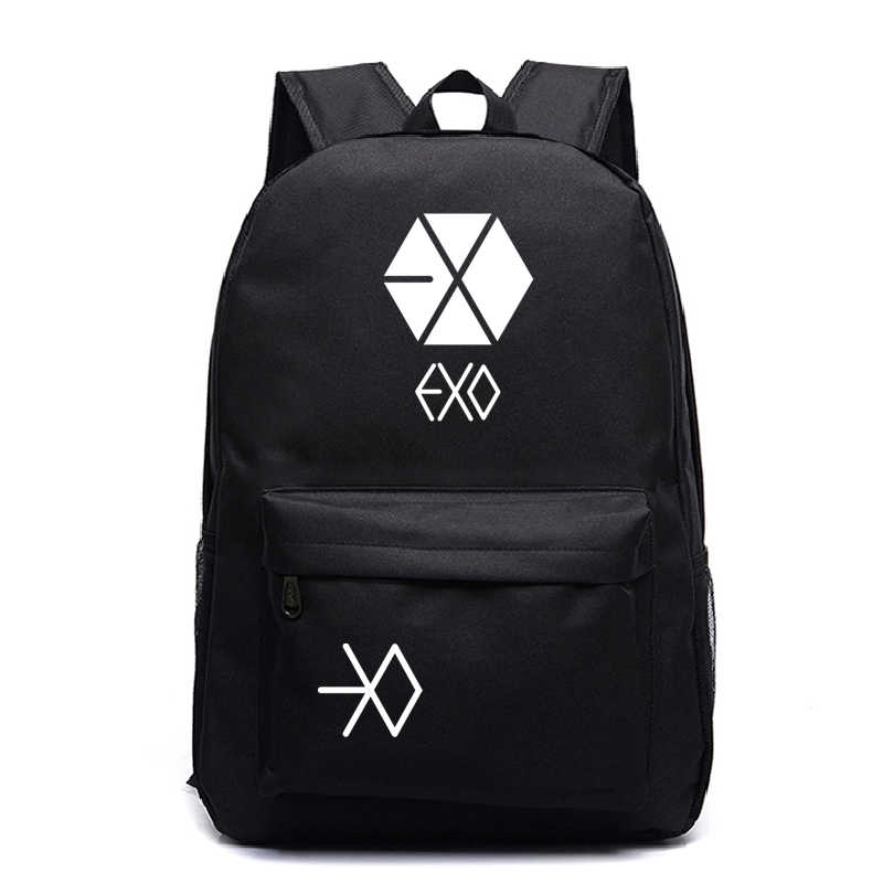 EXO Bags Teens Daily Backpack New Arrival Surprise Gift Mochila Star Laptop Bags Travel Students School Bag For Galaxy Backpacks