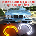 Светодиодный SMD хлопковый светильник Switchback Angel Eye Halo Ring DRL Kit для BMW 5 серии E39 525i 528i 530i 540i 1997 1998 1999 2000