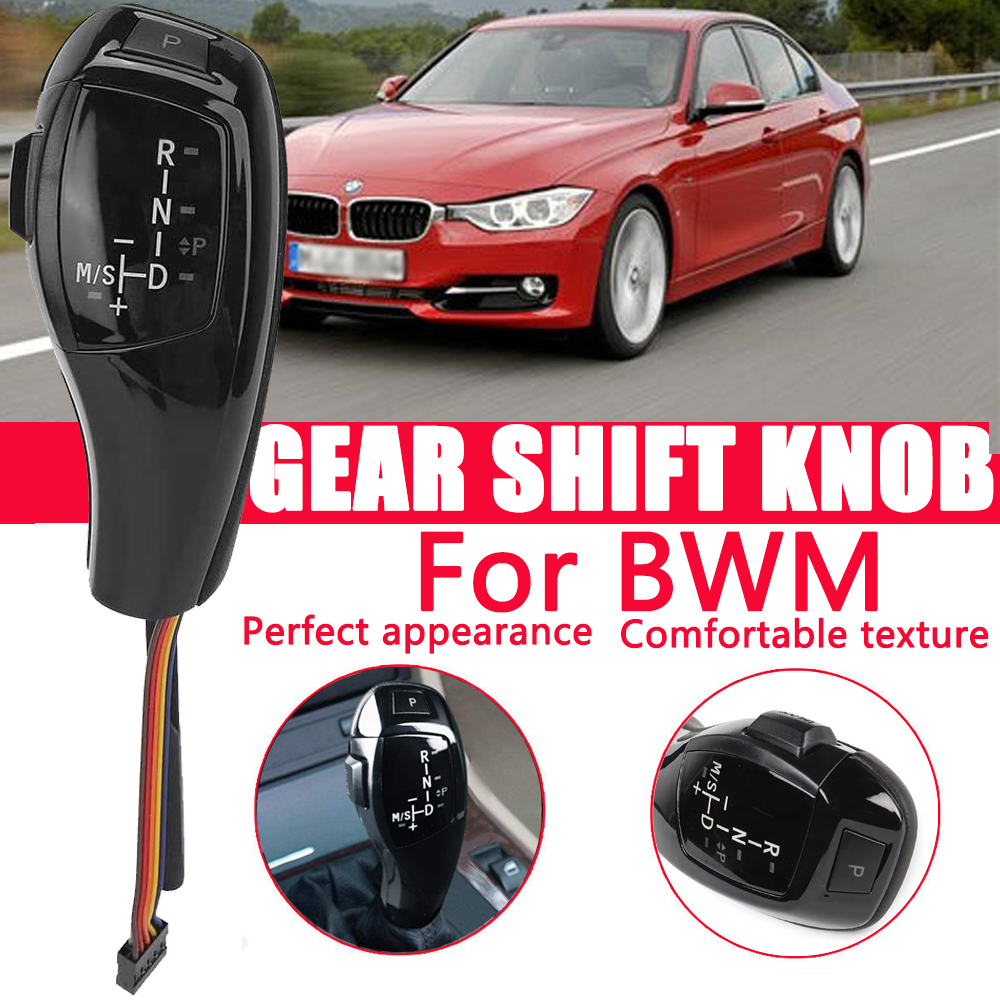 Boots Qiilu 6 Speed Manual Car Gear Shift Knob Stick Head For BMW ...