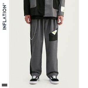 Image 5 - INFLATION DESIGN Oversized Mens Casual Blazer Loose Fit Oversized Men Blazer Spliced Blazer Black Grey Terno Masculino Blazers