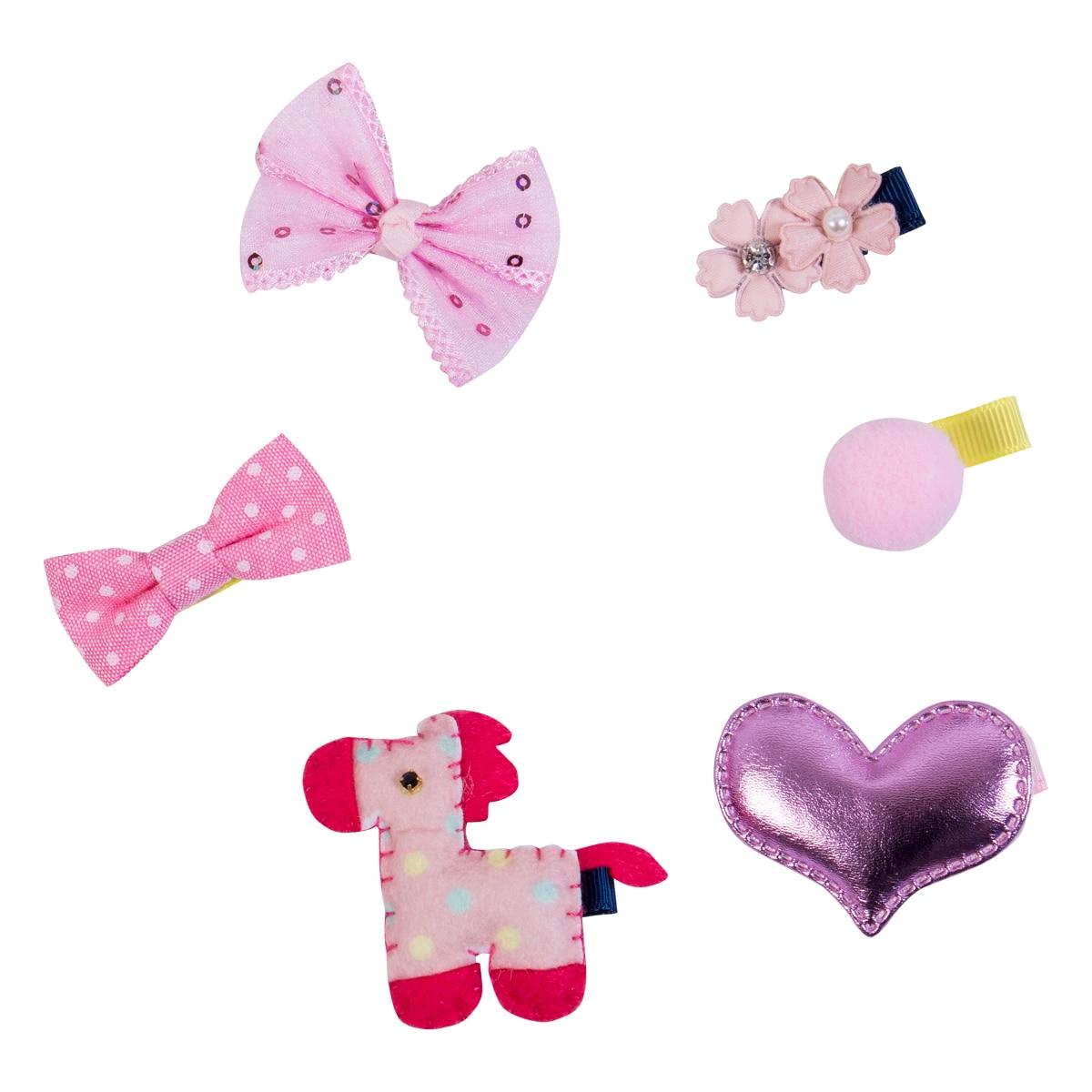 6Pcs//set Hairpin Baby Girl Hair Clip Bow Flower Mini Barrettes Star Kids Infant
