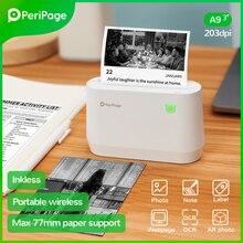 Портативный термальный Bluetooth-принтер PeriPage A9 203 точек/дюйм, Термальный фотографический счётчик, миниатюрный беспроводной принтер для Android IOS