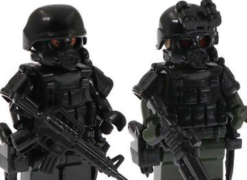 6PCS Special forces Military Soldaten Puppe Action-figuren Blöcke Minifigur Kollektiven Modell spielzeug Für kinder Geschenk