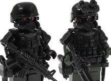 6 pçs forças especiais soldados militares boneca figuras de ação blocos minifigure coletivo modelo brinquedos para crianças presente