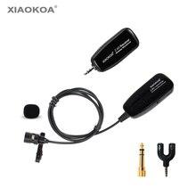 2,4G беспроводной петличный микрофон для усилителя голоса Камера Запись микрофоны телефон Iphone Android Youtube по XIAOKOA