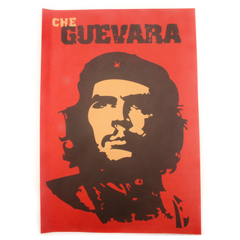 Che Guevara Character Retro Posters Advertising Nostalgic Old Bar Decorative Painting Vintage Wall Sticker naklejki image