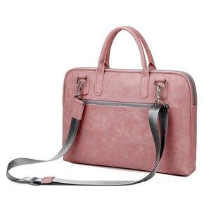 Image 2 - Матовая водонепроницаемая сумка из искусственной кожи для ноутбука 14, 15,6, 17,3, сумка для Macbook Air 13, сумка Pro 13,3, 15, чехол, Деловые женские и мужские сумки через плечо