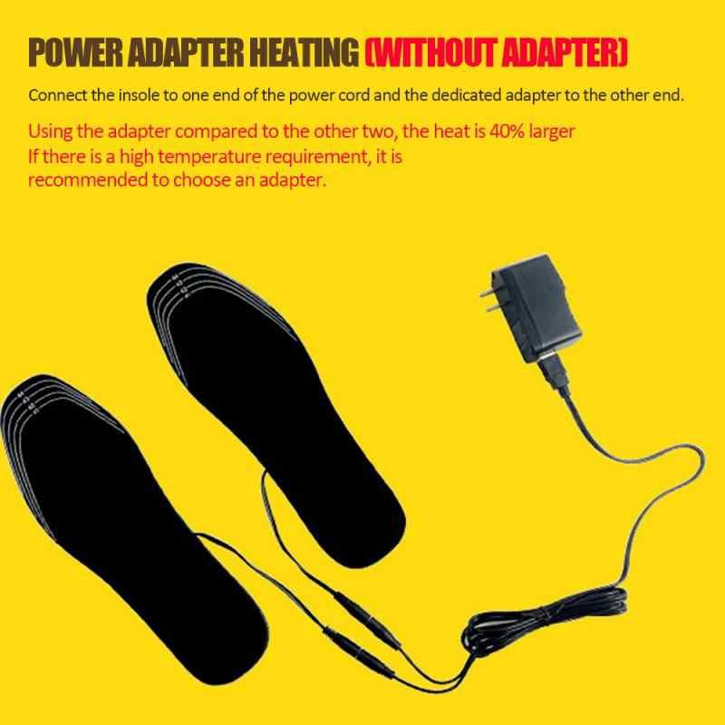 1 пара USB обуви с подогревом удобные мягкие ворсистые стельки для обуви с электрическим подогревом зимние уличные спортивные стельки для утепления