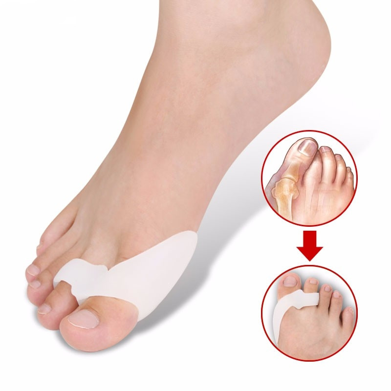 Silicone Orthopedic Hallux Valgus Correction Toe Separator Gel Insole Foot Pad