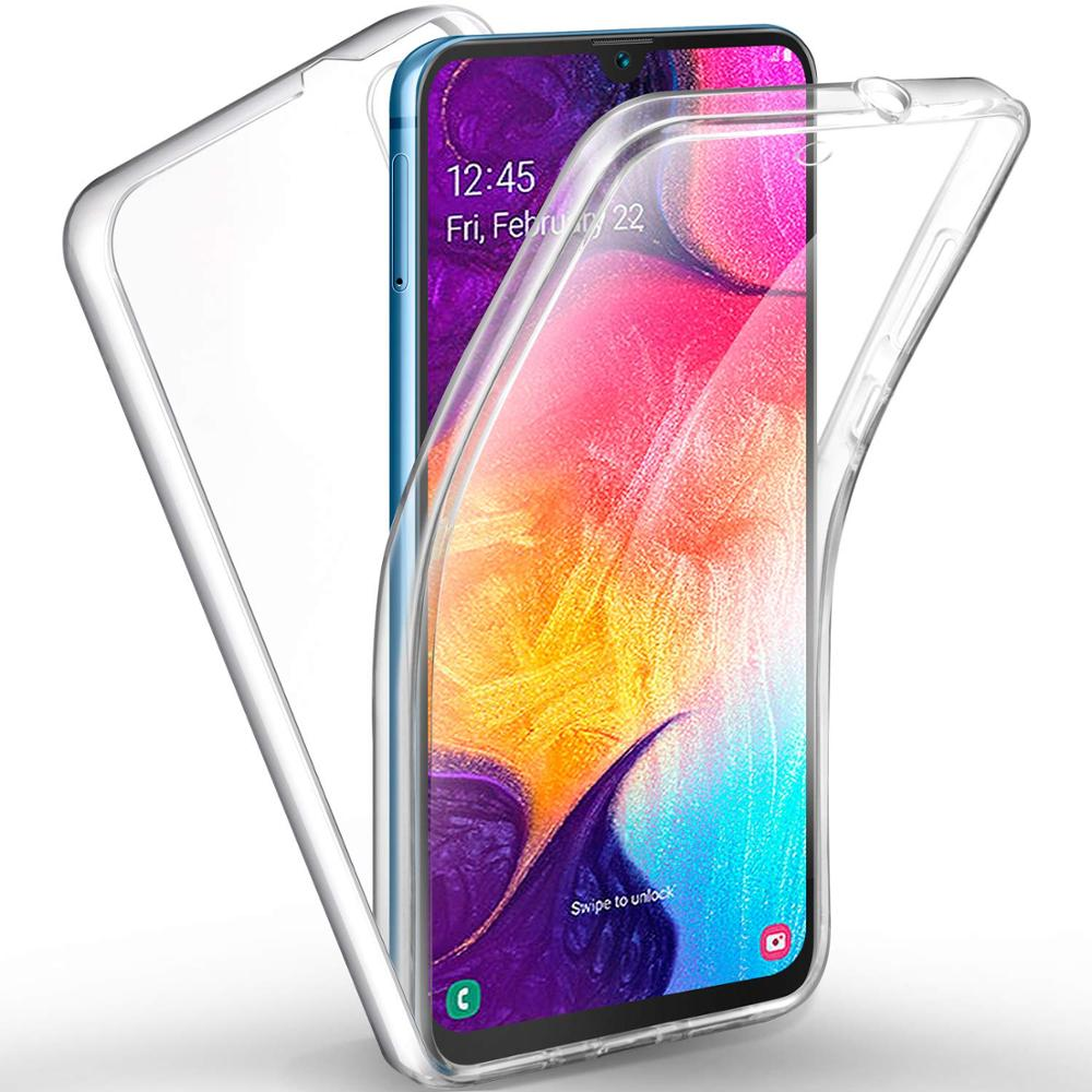 360 Full Body Case For Samsung Galaxy A5 A6 A7 A8 A9 2018 Double Side TPU Clear Coque For A51 A71 A70 A50 40 30 20 10 S Funda