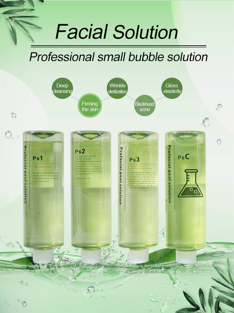 Original Aqua Clean Solution Aqua Peel Concentrated Solution 4*500Ml Aqua Facial Serum Hydra Facial Serum For Normal Skin