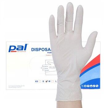 Gants chirurgicaux en Latex à haute élasticité | 100 pièces par paquet, gants d'inspection en PVC, protection contre les Virus, la grippe, les bactéries et l'huile