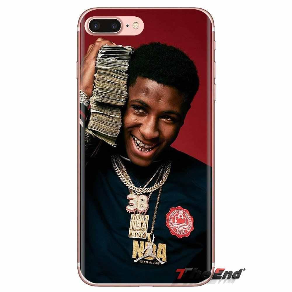 TPU Case PENUTUP UNTUK iPhone X Max XR X 4 4S 5 5S 5 5C Se 6 6S 7 8 PLUS Samsung Galaxy J1 J3 J5 J7 A3 A5 Youngboy Tidak Pernah Melanggar Lagi