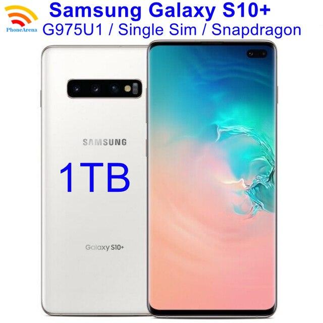 "Original Samsung Galaxy S10+ G975U1 1TB ROM【98% New 】S10 Plus G975U Cell Phone 6.4"" 12GB RAM Snapdragon 855 NFC 4G LTE 1"