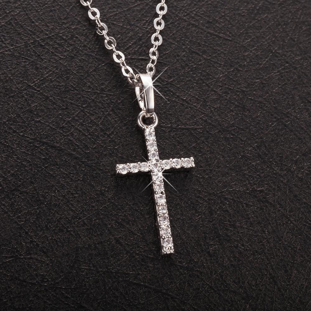 Fashion Female Cross Pendants dropshipping Gold Black Color Crystal Jesus Cross Pendant Necklace Jewelry For Men/Women Wholesale
