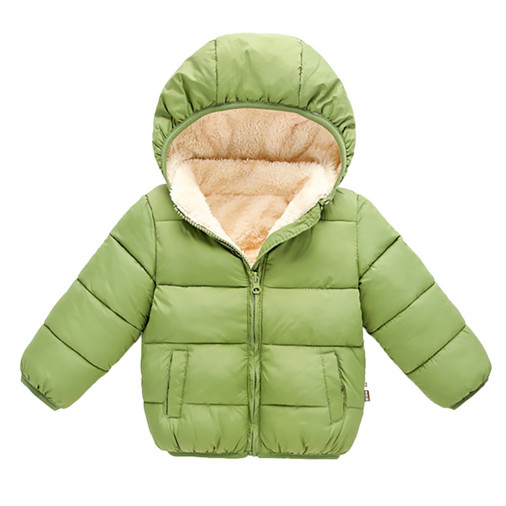 Kids Baby Girl Boy Winter Hooded Coat Cloak Jacket Thick Warm Outerwear Clothes