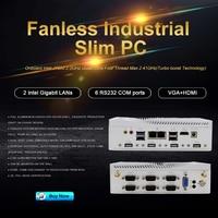High quality industrial computer dual Lan 3G/4G SIM card android mini pc 6COM VGA HD used desktop computer